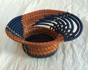 Art Collectable Sculpture Fiber Art Vessel Basket Home Decor