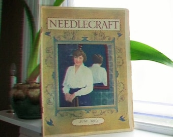 1919 Needlecraft Magazine June Issue with Great Cream Of Wheat Ad Vintage 1910s Sewing