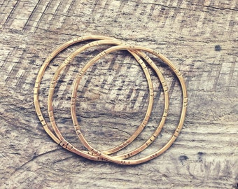 Gold Stacking Bangles - Boho Chic - Tribal - Festival Style