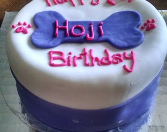 Personalized Birthday 4 inch Dog Birthday Cake Peanut Butter Banana