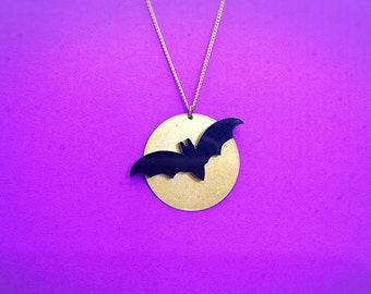 Batty Moon Necklace