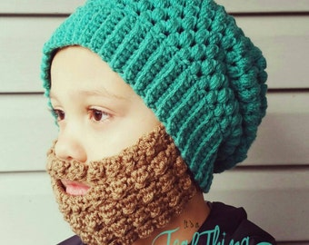 Crochet Beard Pattern with 3 styles included (Hat pattern is not included)