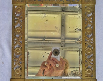 Arts & Crafts Brass Mirror