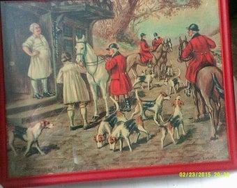 Vintage Hunting Print Leaving The Inn
