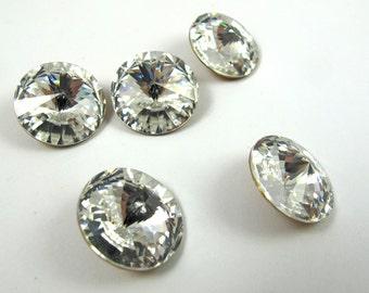 Vintage Swarovski Crystal Rivoli, Crystal 16mm, DIY Jewelry