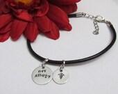 Allergy Bracelet - Penicillin Allergy - Bee Allergy - Nut Allergy - Leather cord bracelet - Medical alert Bracelet for girls - gift boxed