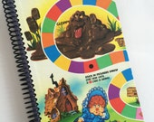 CANDY Spiral notebook journal Candyland Made from an actual game board