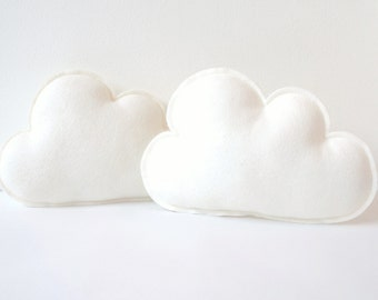 Cloud pillows, Set of two, Cloud Softies, Nursery Clouds, Nursery Gift, Nursery Decor, Cloud Nursery, baby gift, baby shower gift