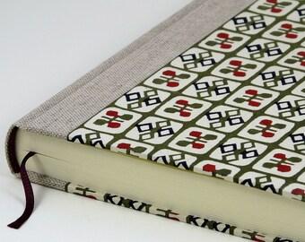 """Notebook / Diary 15x21cm (6""""x8"""") 288 p. Cover KATAZOME """"Karo"""""""