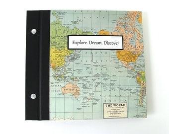 World Map Photo Album - Awesome Graduation Gift