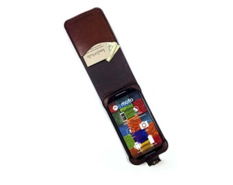 Moto G 2014 (2nd Gen) Leather Wallet Case - No Plastic - Clearance Sale / Scratch and Dent