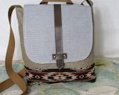 Spirit of the People -- Crossbody messenger bag // Pendleton wool // Adjustable strap // Field bag // Satchel// Soutwestern // Ready to ship