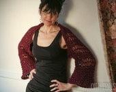 Lace Knit Shrug Bordeaux Knit Sweater
