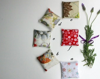 Lavender Pillows -  Selection of Mixed Fabric Lavender Sachets - Select 1 or More