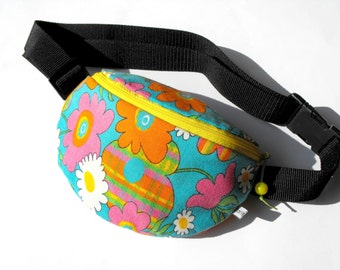 fanny pack/hip bag - colourful flowers (small size)