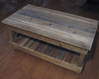 Plank Top Coffee Table. shipping included