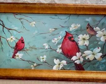 Cardinal Painting Etsy