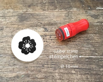 Mini Cherry Blossom Rubber Stamp