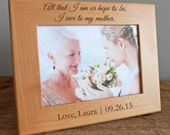 Personalized Mother of the Bride Picture Frame: Mother of the Bride Gift, Personalized Mother of Bride, Gift for Mother of Bride, SHIPS FAST