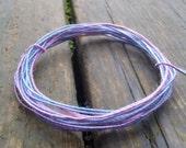Fiber Wire Core Handspun Art Yarn 24 gauge wire Red Riding Hoods Wolf- Everything Nice