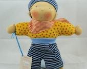 Max cuddle doll, waldorf inspired doll, steiner doll, 12 inch, doll boy, soft doll