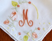 Vintage M Hanky with Bonus free hanky from Grannies Hankies Free Shipping