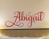 Girls Name Decal Girls Name Wall Decal Girls Bedroom Wall Decor Name Decal Personalized Monogram Girls Room Baby Girl Nursery Decoration