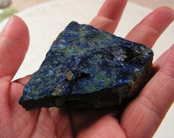 Azurite crystal mineral, gemstone, healing stone, rock #1