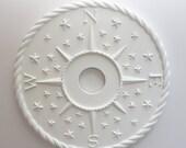 CEILING ROSE Compass Design- Nautical Ceiling Medallion Decorative Direction, beach ceiling decor, nautical medallions