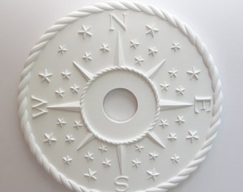 COMPASS CEILING ROSE- Nautical Ceiling Medallion Decorative Direction