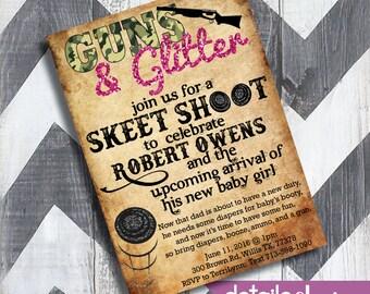 DIAPER PARTY Skeet Shoot Invitation, Baby Shower, Wedding, Rehearsal Dinner, Bridal Shower - Digital Download