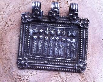 "Banjara Tribal Vintage Silver Pendant ""Seven Sisters"""