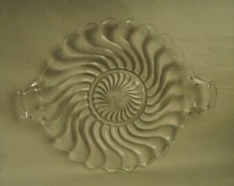 Vintage Fostoria Glass Colony pattern Cake Plate