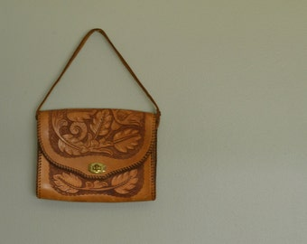 tooled leather handbag / purse