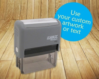 Rectangular Self-Inking Custom Rubber Stamp Featuring Your Design, Logo or Artwork