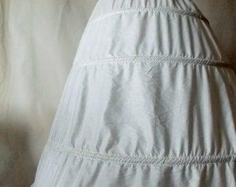 Vintage Civil War Style Hoop Skirt