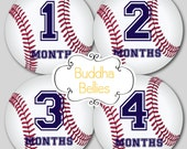 Monthly Baby Stickers Baby Boy Baseball Monthly Stickers Monthly Bodysuit Stickers Baby Month Stickers Baby Monthly Sticker