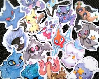 Ghost Pokemon Stickers