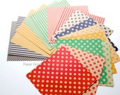 Kraft paper Origami pack, printed stripes origami sheets, polka dot origami paper, colorful variety patterns, paper craft supplies