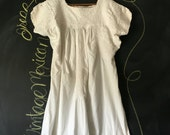 Vintage White Mexican Oaxacan Embroidered Dress
