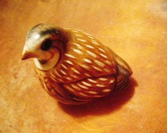 Vintage Goebel Quail West Germany Porcelain Figurine Bird Figure