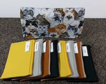 Cash Envelope Wallet JUMBO Size, Cash Budget system, READY to SHIP -Cats- (It can be used with the Dave Ramsey system)