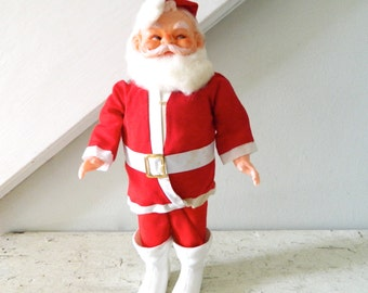 Vintage Santa Claus Christmas Holiday Decor Accent Doll 1950's