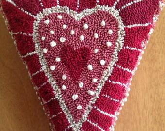 Primitive Punch Needle Heart