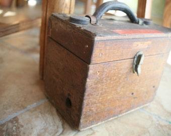 Wood Machinist Tool Box, Wood Box, Old Tool Box, Art Box, Industrial Box, Old Box for Tools