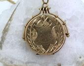 Victorian 14k Gold Locket and Chain, , Antique Gold Locket,