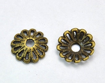 500pcs Antique Bronze bead caps 12mm Flower Bulk Purchase DIY Jewelry Making Supplies Findings
