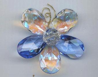 Dazzling and unique custom made Swarovski flower suncatcher