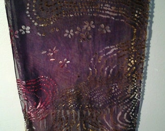 Silk scarf in purple