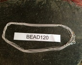 925 bead chain Necklace 1.22 mm